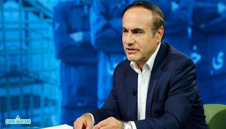 غلامرضا سلیمانی، رئیس بیمه مرکزی در نشست خبری شبکه دو سیما